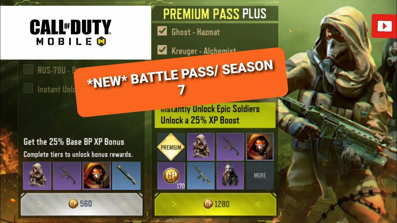 🔴*NEW*🔴Season 7 Battle Pass In Call Of Duty Mobile!!!!