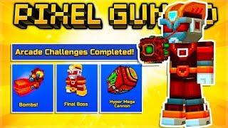 Insane Arcade CHALLENGES Complete OP Hyper Mega Cannon | Pixel Gun 3D