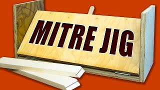 Learn how to make a mitre jig for your table saw that lets you make perfect easy mitres cuts and spline joints. Table saw jigs are