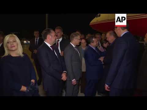 Erdogan welcomed by Vucic upon arrival in Belgrade