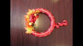 как сделать осенние венки своими руками мастер класс