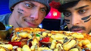 אתגר הפיצה עם תולעים