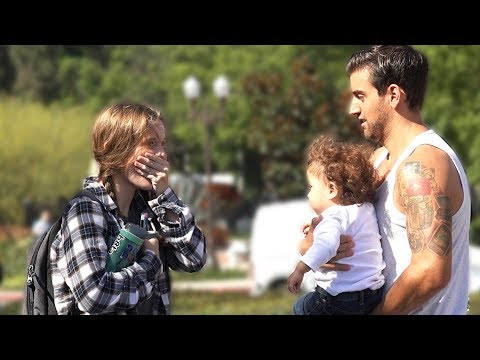 BABY IN HAIR PRANK!