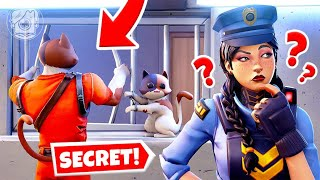 SECRET Prison Escape: CATS vs. COPS! (Fortnite Cops & Robbers)