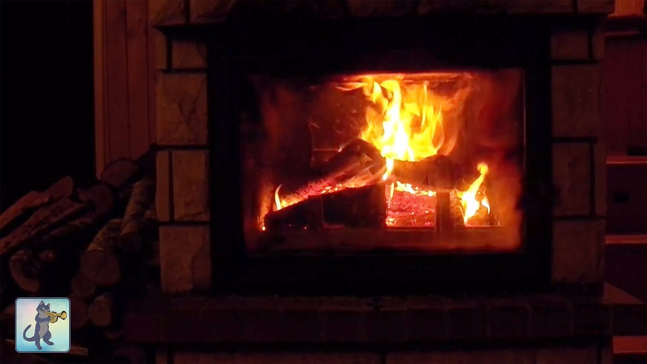 3 HOURS of Relaxing Fireplace & Crackling Fire Sounds ~ NO MUSIC #2