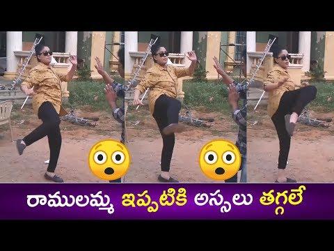 See Lady Superstar Vijayashanthi Doing Karate Fight With Brahmaji || E3 Talkies