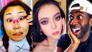 Viral Asian Make Up Transformation Reaction 2