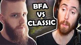 "Asmongold Reactions ""CLASSIC WoW vs BATTLE FOR AZEROTH - A One Hour Experiment in Both Games!"""