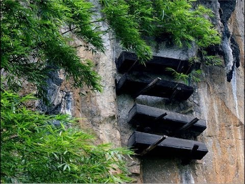 Mysterious hanging coffins of China dot the cliffs of the Yangtze River