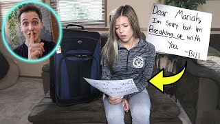 Leaving My Girlfriend With ONLY A Goodbye Letter...(She Cried)