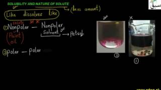 Solubility and Nature of Solute thumbnail