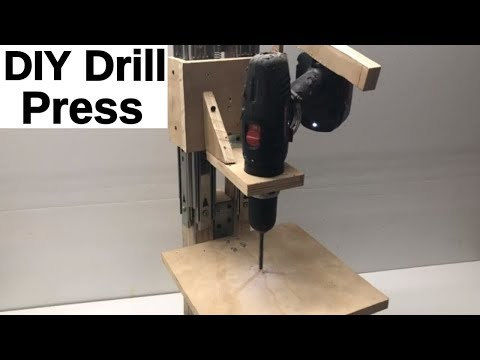 DIY Drill Press Build- How To Make A Drill Press Stand