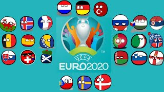 EURO 2020 in Countryball (Not Real)