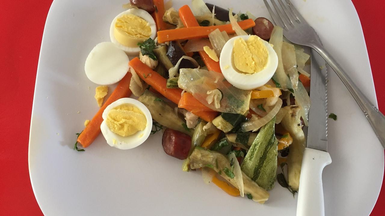 Verduras para cenar dietacion
