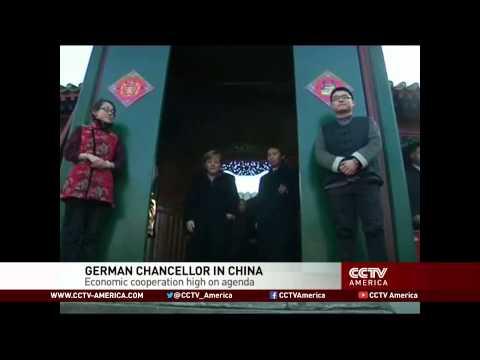Germany's Chancellor Merkel visits China. boosts economic ties