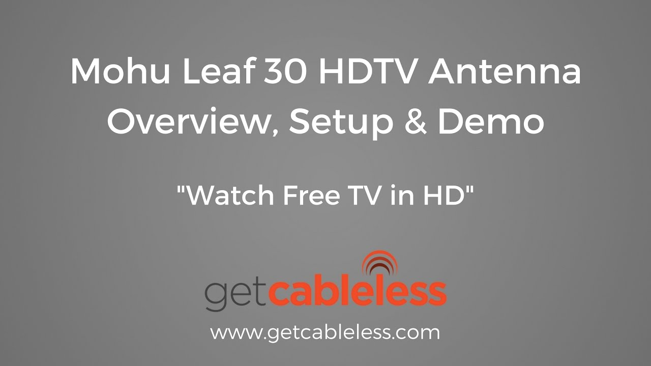 The Mohu Leaf 30 Indoor HDTV Antenna is one of the best interior digital TV.