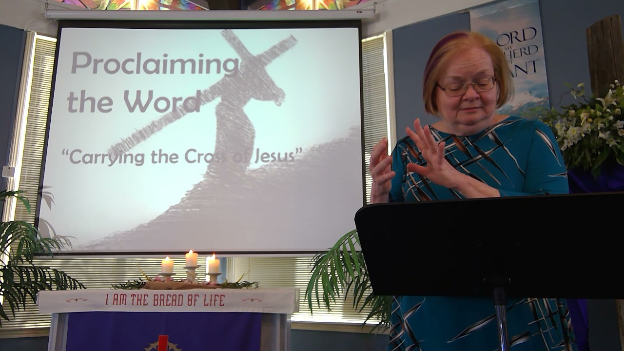 """March 28, 2021 ~ Rev. Julia Price ~ """"Carrying the Cross of Jesus"""""""