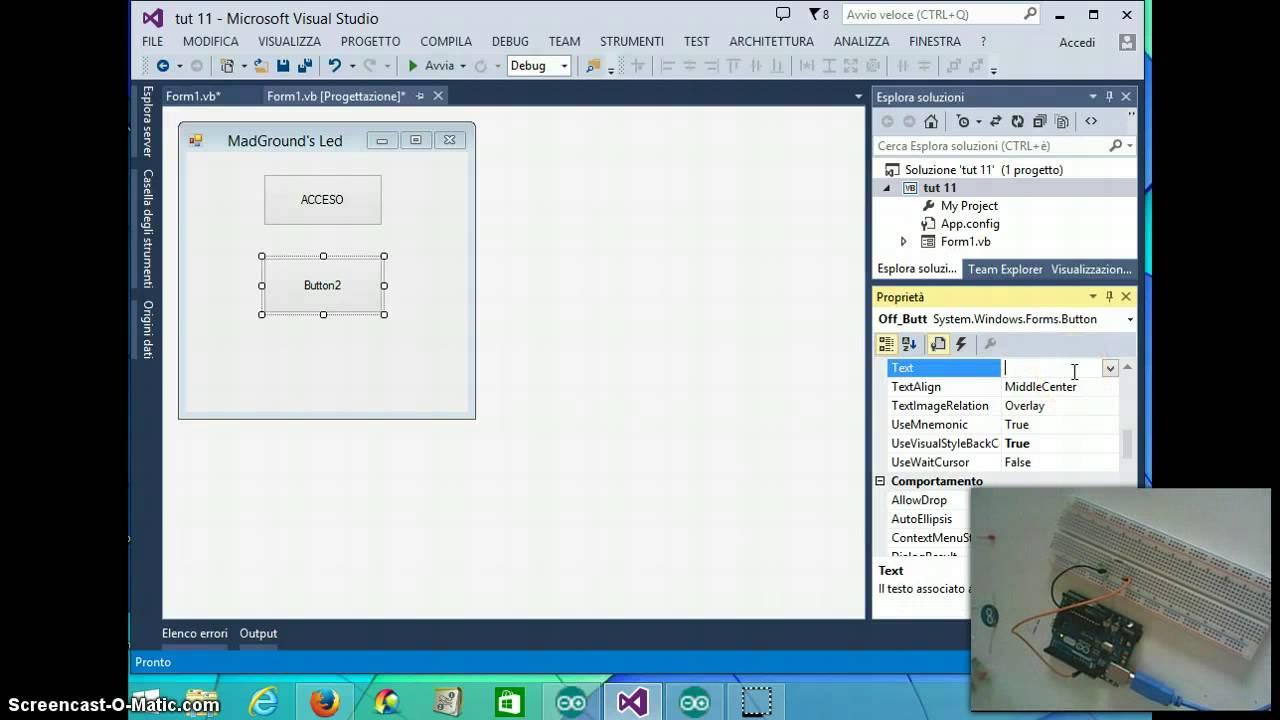 Tutorial arduino programmare e comandare in vb