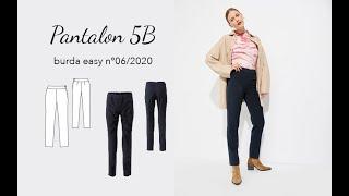 Pantalon 5B - Burda Easy n°6 Novembre/Décembre 2020