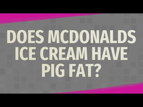 Does Mcdonalds Ice Cream Have Pig Fat?