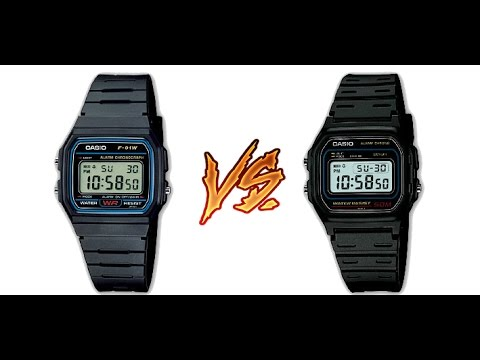 Confronto F 91W vs. Casio W 59