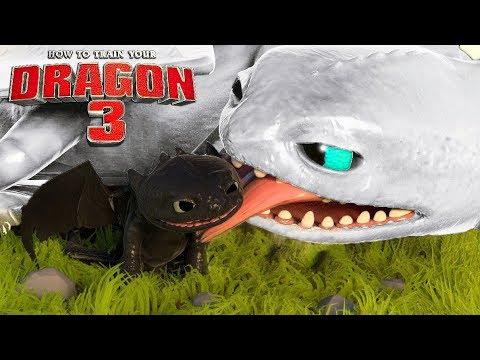 Como Treinar Seu Dragão 3 - FÚRIA DA NOITE BRANCA Bebês Do Banguela  How to Train Your Dragon 3