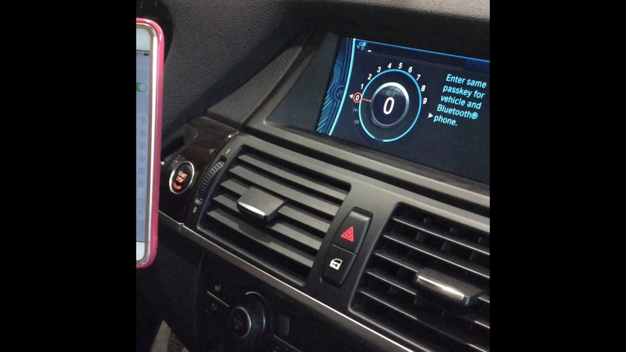 how to connect phone to bmw bluetooth