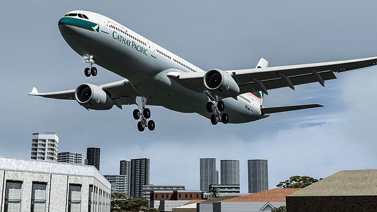 Terrifying Moments as Both Engines Failed on Approach to Hong Kong | Cathay  Pacific Flight 780