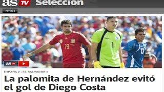 Diario AS resalta el vuelo de Henry Hernández que evitó el primer gol de Diego Costa con España