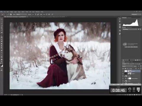 Художественная обработка зимней фотографии.