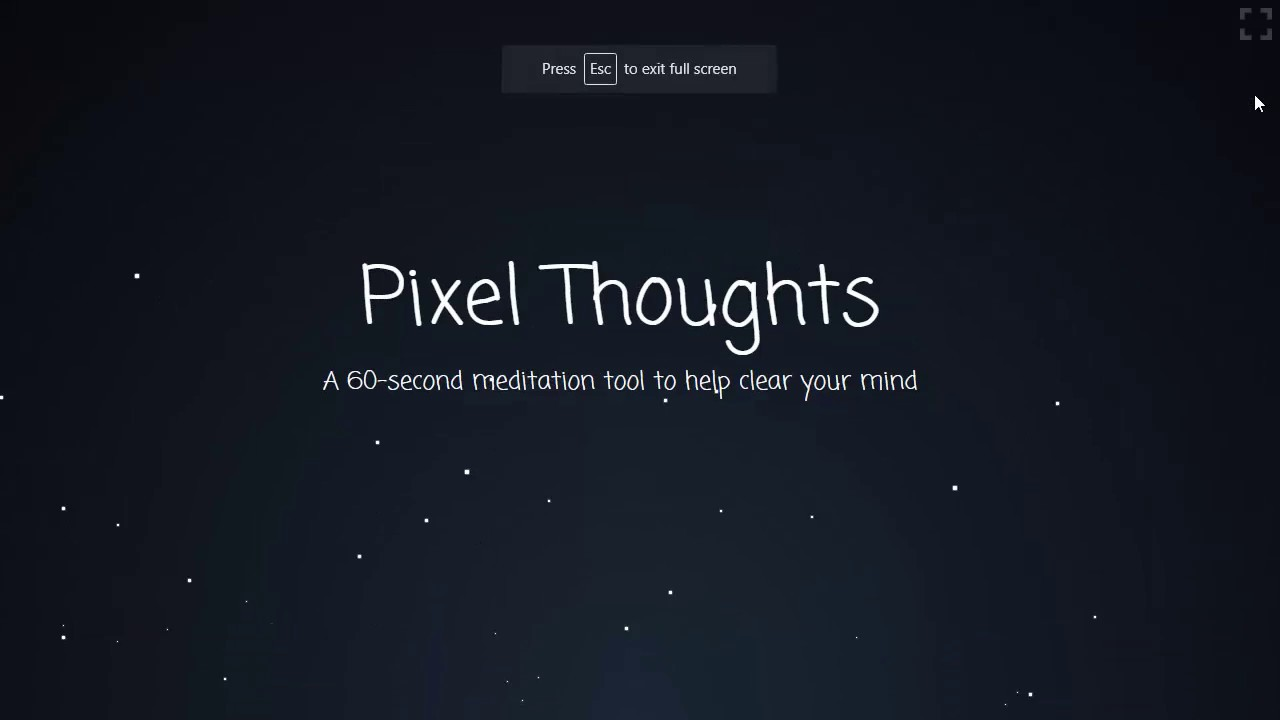 This is a website of Pixel Thoughts