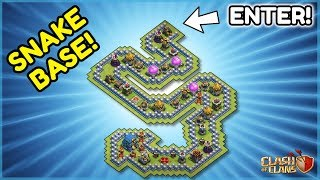 "*IMPOSSIBLE* TH12 TROLL BASE - ""SNAKE BASE"" Challenge - Clash of Clans"