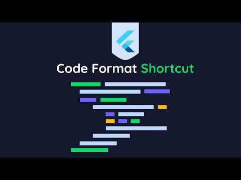 Keyboard Shortcut To Format Flutter/ Dart Code