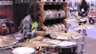 Angel Drums & Zion Cymbals NAMM 2015 - Thomas Pridgen