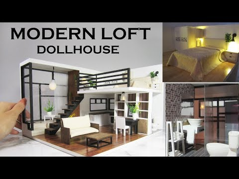 DIY Miniature - Modern Dollhouse (Kit Bash)