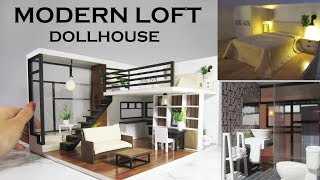 DIY Modern Loft Dollhouse