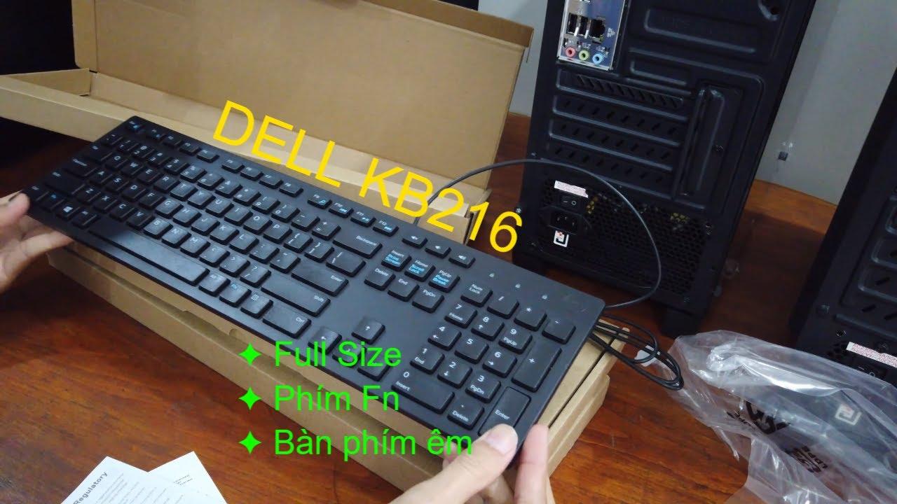 Mở hộp bàn phím Dell KB216 Black fullsize