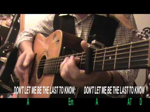 THE LAST TO KNOW (Del Amitri) - Lyrics & Chords