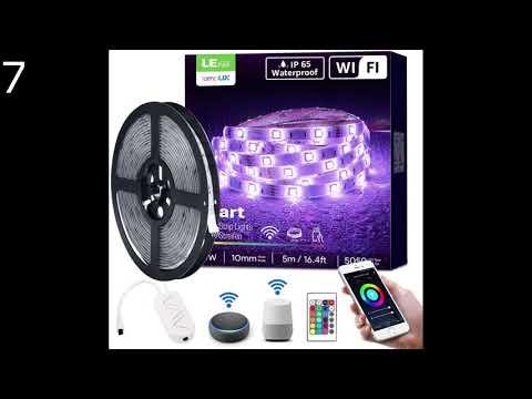 RGB LED Strips Sync mit Musik, IP65 Wasserdicht 150 LED 5050 SMD Farbwechsel LED Strip HoMii LED Streifen 5m 40 key Fernbedienung,16 single colors