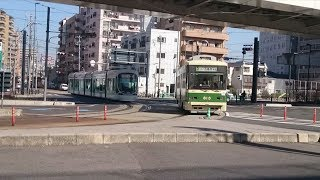 広島電鉄5100形5108号『サンフレッチェ電車』&800形813号 海岸通〜元宇品口