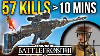 1 SHOT KILL SNIPER Star Wars Battlefront 2