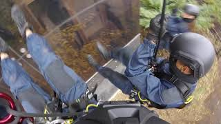 École de Cascadeurs / Stunt School / Descente en Rappel Commando / Commando Rappeling
