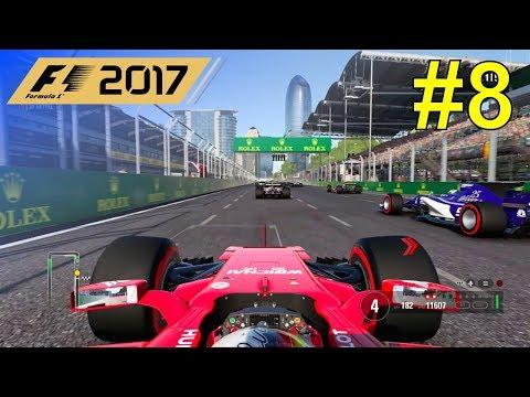 F1 2017 - Let's Make Vettel World Champion Again #8 - 100% Race Baku