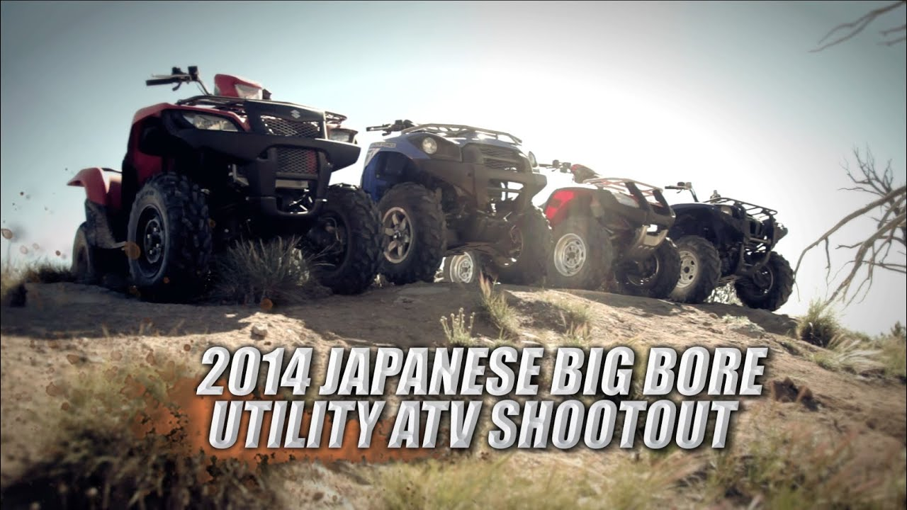 2014 Japanese Big Bore Utility ATV Shootout