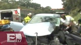 Carambola en la Autopista México-Cuernavaca; hay 20 personas lesionadas  / Todo México