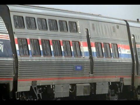 Amtrak 48 87 & 94, Viewliner Dining Car 8400 past Dunkirk, NY