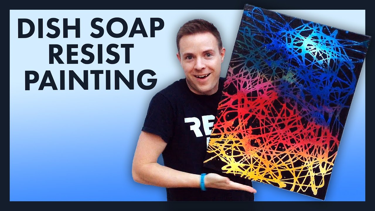 dish soap resist painting youtube