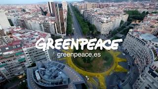 ¡Acción! Pintamos un Sol en la plaza Francesc Macià de Barcelona