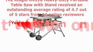 Ridgid Portable Table Saw Review -- R4510