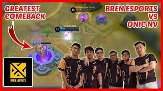 Epic Comeback! Bren Esports vs Onic NV | Game 3 - Mobile Legends